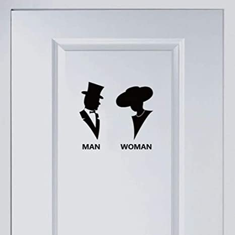 Wall Stickers - Man Woman Wall Stickers Poster Paster Decals ...