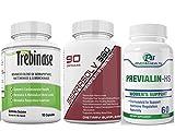 Extra Strength Uterine Fibroid Package - Dissolve Uteirne Fibroids Quickly (Trebinase 90, Serrasolv 360 90 cap & Previalin 60 Cap_