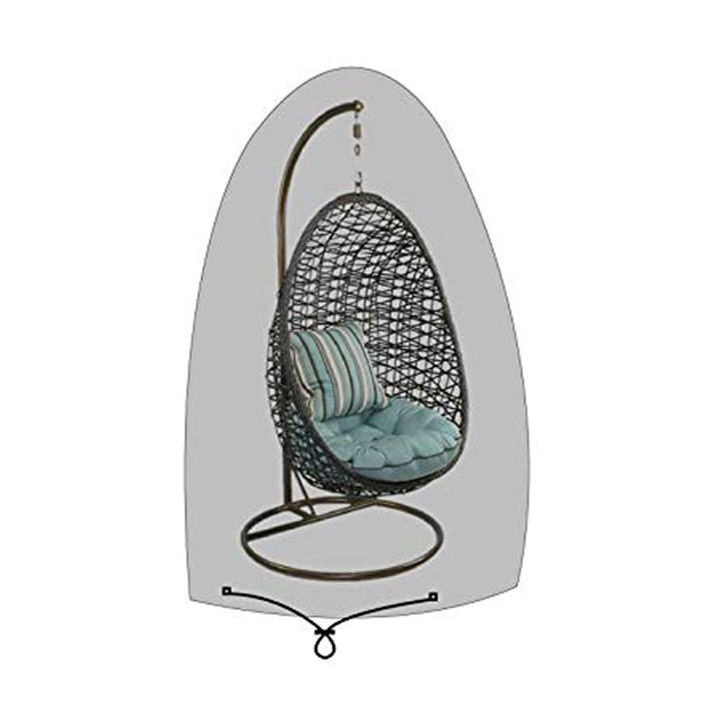 SIRUITON Patio Hanging Chair Cover 420D Oxford Fabric Waterproof Patio Cocoon Egg Chair Cover