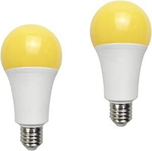 Yellow Led Bug Light 15W A21 1500LM(100 watt Equivalent) E26 Medium Base Outdoor Patio Porch Light Mosquito Repellent Light Bulbs, 2 Pack