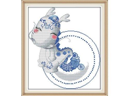 Happy Forever Cross Stitch, cartoon, Chinese zodiac, dragon
