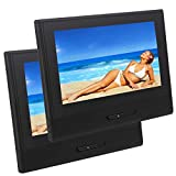 8 Inch 1280720 2PCS Detachable Car Headrest Monitor DVD Player Entertainment System USB/SD/FM/Game TFT LCD Screen Built-in Speaker with gaming system support IR Headphone ( Not included )