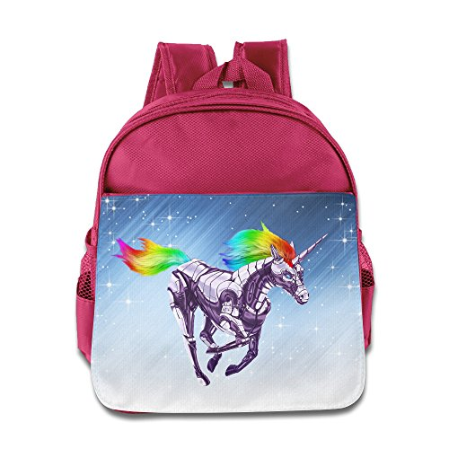 [D2 Cool Rainbow Unicorn Kids' Backpack For 3-6 Years Old Kids Pink Size One Size] (Tim Drake Costume)