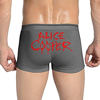 NGG Sexy Alice Cooper Logo Seamless Stretchable Boxer Underwear For Fashionable Men Ash