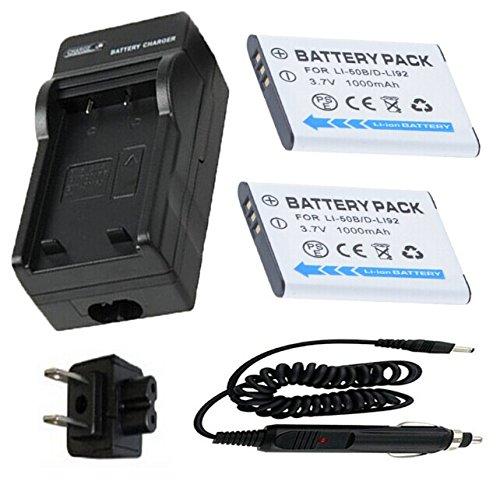 Charger for Pentax Optio WG-1, WG-2, WG-3 GPS Waterproof Digital Camera ()