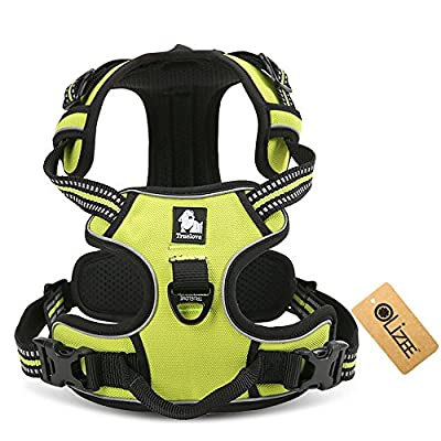 OLizee™ New Front Range No Pull Dog Harness Outdoor Adventure 3M Reflective Pet Vest with Handle Adjustable Protective Nylon Walking Pet Harness Variety of Sizes and Colors,Green XS