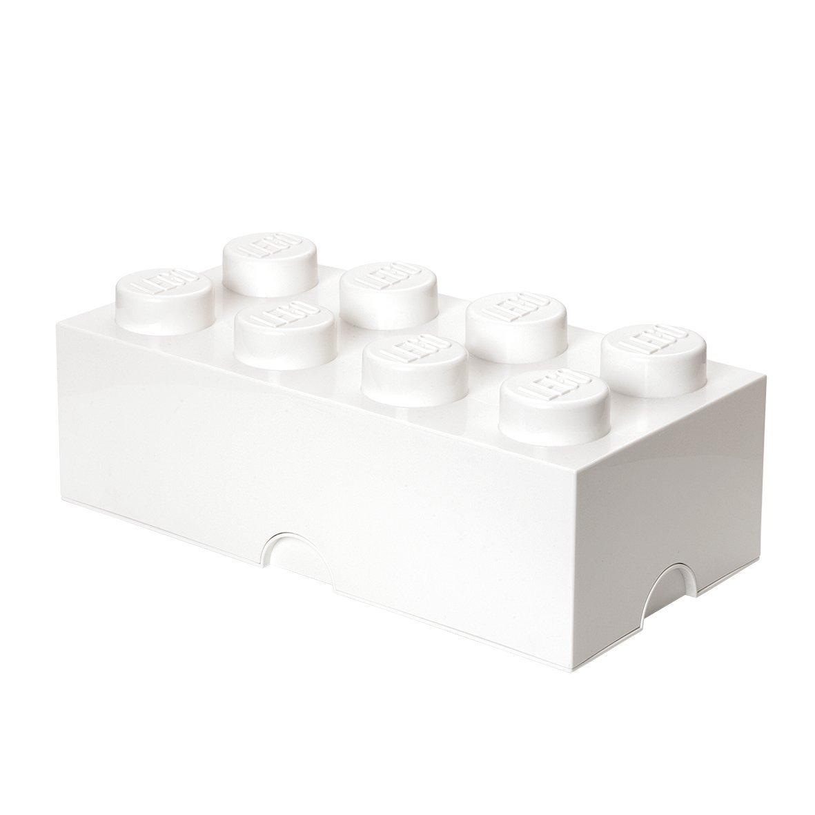 LEGO Storage Box Brick 8 White by LEGO