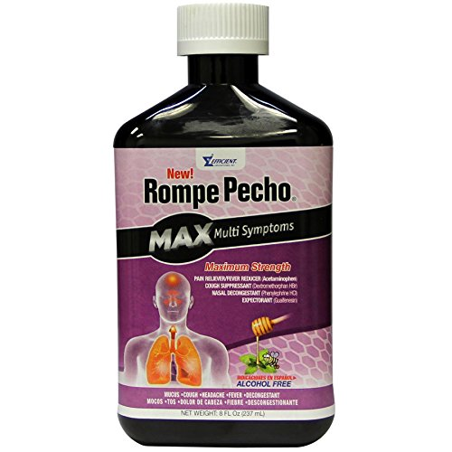 Rompe Pecho Rompe pecho max multisymptoms maximum strength cough syrup, alcohol free - 8 oz, 8.0 Ounce (Pecho Syrup Cough Rompe)