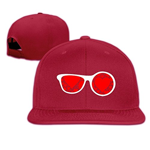 MaNeg Sunglasses Red Hearts Unisex Fashion Cool Adjustable Snapback Baseball Cap Hat One - Reebok Sunglass