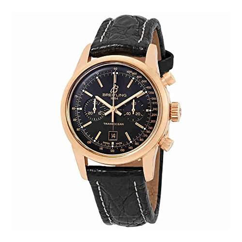 Breitling Transocean Chronograph 38 Automatic Black Dial Mens Watch R4131012/BC07BKCT