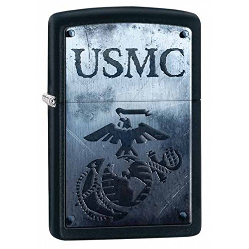 Personalized Message Engraved Customized U.S. Marine Corps. Zippo Indoor Outdoor Windproof Lighter - Marine Personalized