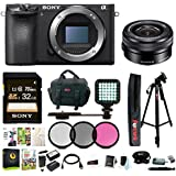 Sony a6500 Mirrorless Camera w/Sony 16-50mm Lens Accessory Bundle