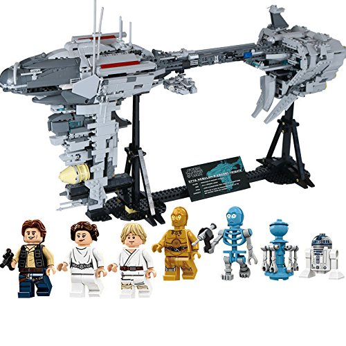 Imperial Navy Nebulon-B Escort Frigate Building Blocks Kit | Compatible with LEGO | Star Wars Minifigures Included | 1,736 Pieces