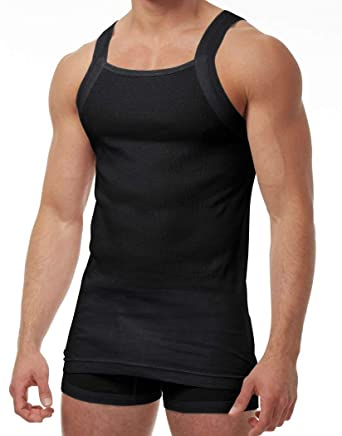 963c36c9d8cf92 Papi Pure Cotton 3 Pack Tank 559111 at Amazon Men s Clothing store