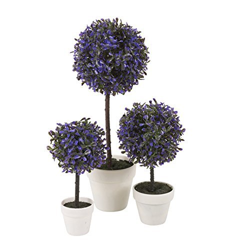 Easygift Decorative Artificial Ball Plant (Purple, Large, 2 Plants) by Easy Gift