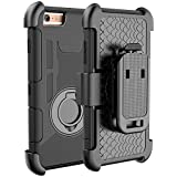 iPhone 6 Plus Case, E LV iPhone 6S Plus / 6 Plus Holster Defender Case,- Shock-Absorption / High Impact Resistant Armor Holster Defender Full Body Protective Case Cover with Kickstand and Belt Swivel Clip for iPhone 6S PLUS / 6 PLUS with 1 E LV Stylus and 1 Screen Protector