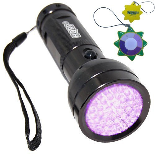 - HQRP 390 nM 51 UV LED Ultraviolet Saliva / Sperm Identification Flashlight / Blacklight + HQRP UV Meter