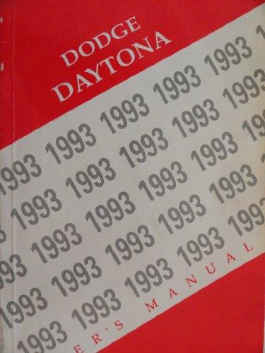 Original 1993 Dodge Daytona Owners Manual