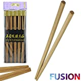 EVELYN LIVING 20 x CHINESE CHOPSTICKS WOODEN BAMBOO STIR FRY PARTY REUSABLE JAPANESE TRADITIONAL