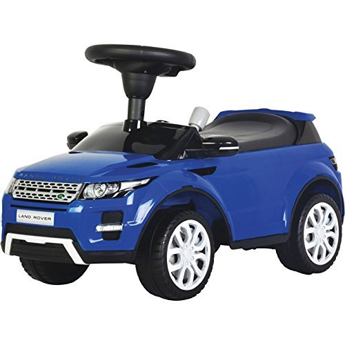 Evezo Range Rover Evoque, Ride-On Toy Car for Kids, Full Steering, Adult Push, Licensed (Blue) (Range Rover Evoque Toy)