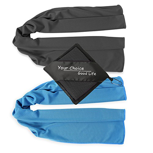 Your Choice Cooling Towel - Workout, Gym, Fitness, Golf, Yoga, Camping, Hiking, Bowling, Travel, Outdoor Sports Towel for Instant Cooling Relief