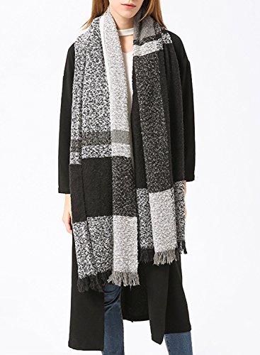 Futurino - Chaqueta - para mujer gris y blanco