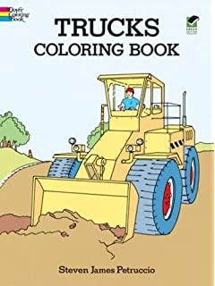 Trucks Coloring Book Dover Design Books