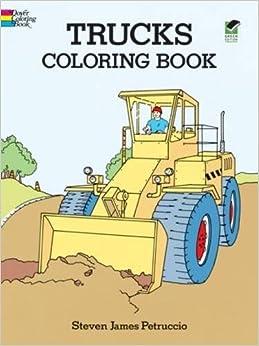 trucks coloring book dover design coloring books