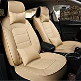 YAOHAOHAO Easy-to-clean programmable auto leather seat cushion, universal fit seat covers car
