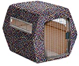 Pet Under Cover Kennel Cover for Petmate, Purple Polka Dot, Medium Review