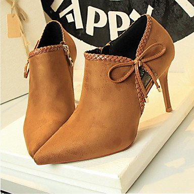 FYios amp; UK6 Spring Comfort Heels Summer Dress Stiletto Office Career US8 Lace up CN39 Heel Fall EU39 Leatherette 0Sa0rxwq