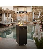 Planika Faro – draagbare en vrijstaande terrasverwarming gas voor je tuin en terras (Zwart)