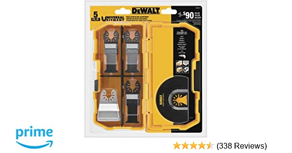 DeWALT Oscillating 5 PC set DWA4216