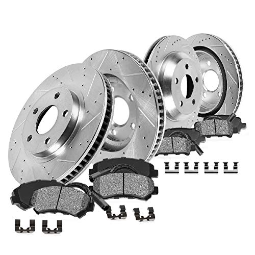 Callahan CDS02564 FRONT 298mm + REAR 298mm D/S 5 Lug [4] Rotors + Metallic Brake Pads + Clips [1963-1982 Vette C2 C3]