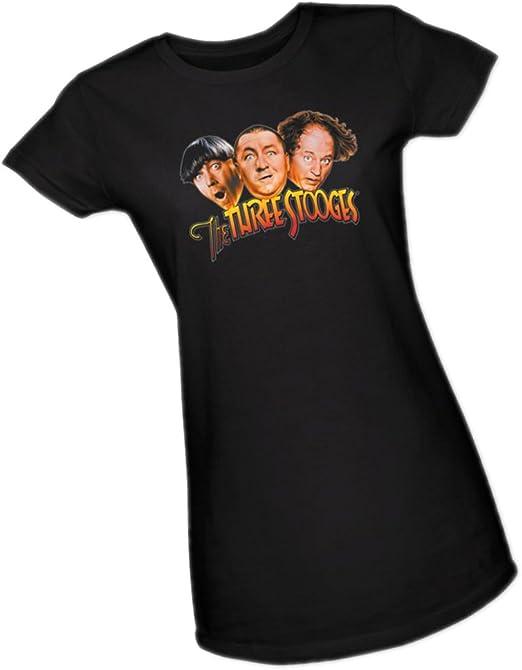 Three Stooges Three Head Logo Adult Work Shirt