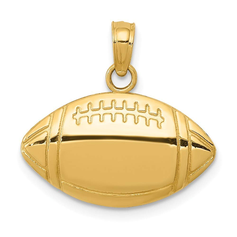 14K Yellow Gold Football Charm Pendant from Roy Rose Jewelry