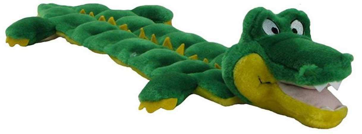 Outward Hound Squeaker Matz Squeaky Dog Toy � Interactive Cuddly Gator Soft Toy for Dogs - Tough & Durable Plush Fluffy Toy for Awesome Pets