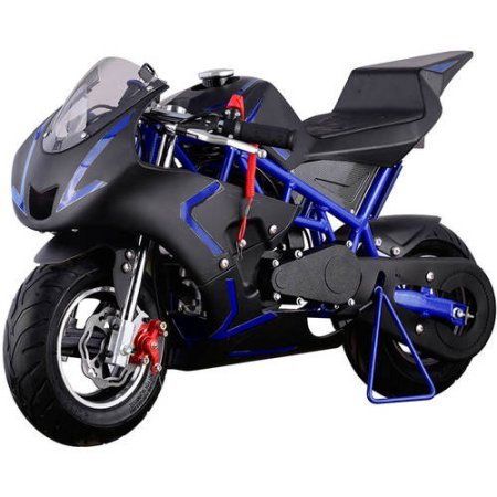 Hoverheart Mini Gas Power Pocket Motorcycle Ride-on 40CC 4-Stroke (Blue/Black)