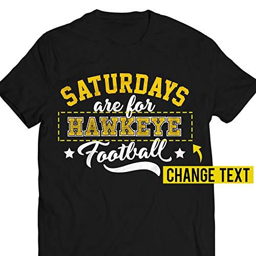 Saturdays Are For Hawkeye Football Jersey Customized Handmade T-Shirt Hoodie/Long Sleeve/Tank Top/Sweatshirt (Brown Hawkeyes Iowa Football)