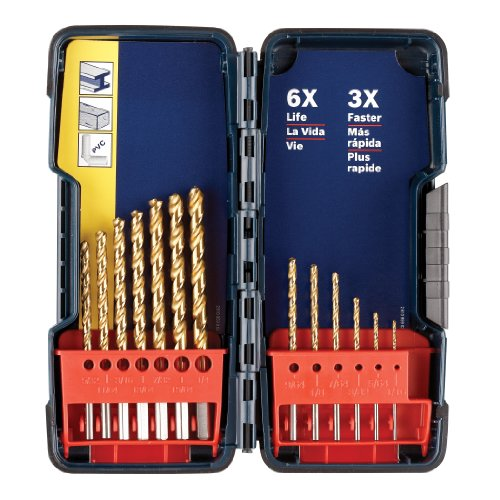 Bosch TI13 13 Piece Titanium Coated Drill