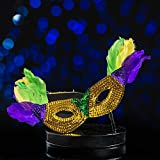 Sequined Mask Centerpiece