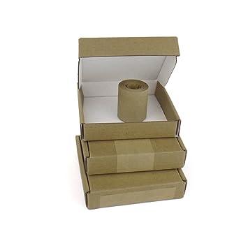 50 cajas de cartón para correo postal, mini grande, cajas pequeñas (tamaño: 100 mm x 100 mm x 20 mm): Amazon.es: Oficina y papelería