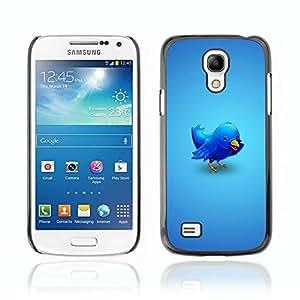 A-type Arte & diseño plástico duro Fundas Cover Cubre Hard Case Cover para Samsung Galaxy S4 MINI / i9190 / i9192 ( Enfriar Ilustración del pájaro del gorjeo )