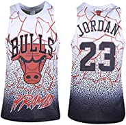 Jordan Bulls #23 Basketball Jerseys for Men, 90S Hip Hop Clothing for Jersey Party, Halloween and Daily Life (