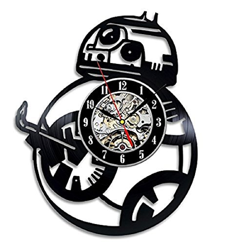 Bb-8 Star Wars VII Episode Force Avakensgift Vinyl Record Wall Clock Home Decor Art