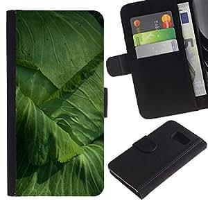 WINCASE ( No Para S6 EDGE ) Cuadro Funda Voltear Cuero Ranura Tarjetas TPU Carcasas Protectora Cover Case Para Samsung Galaxy S6 SM-G920 - jardinería repollo jardín ecológico de hortalizas