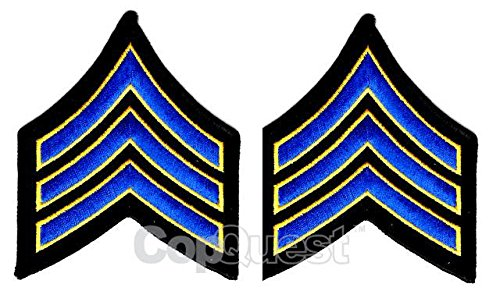 Uniform Chevrons - Royal/Medium Gold on Black - 3.5-inch wide - ()