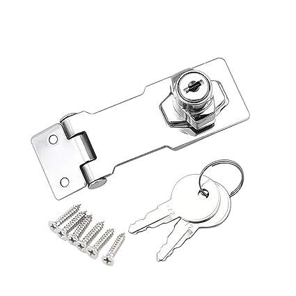 Cerradura de seguridad para cajones Cierre de hebilla Candado para muebles, armarios, cajones, armario, Buzón, Casillero (3 pulgadas) (1 pieza)