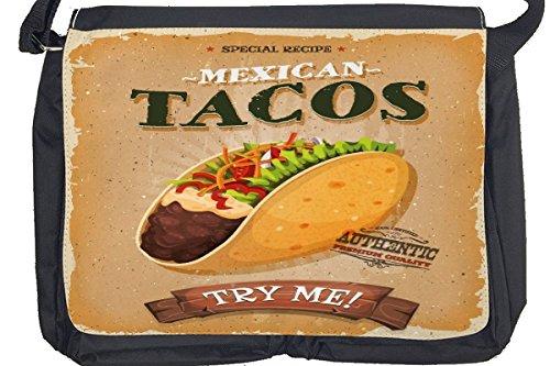 Borsa Tracolla Alimentare Ristorante tacos messicani Stampato