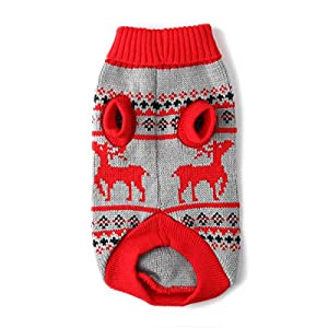 Knit Pet Dog Sweater Reindeer Dog Clothes For Large Small Dogs Cat Puppy Christmas Holiday Sweater XS-XL